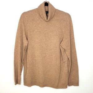 Charter Club Tan Cashmere Turtleneck Sweater
